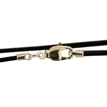 Lederband mit Verschluss   Länge ca. 46 cm   Farbe schwarz