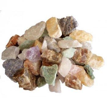 Bunte Mischung Edelstein Rohsteine 1kg | Dekosteine multicolor | nach Verfügbarkeit-Amethyst, Rosenquarz, Calcite, Quarze, Jaspis, Kristalle
