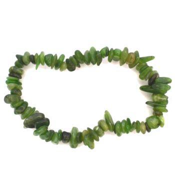 Jade Stein Armand grün günstig kaufen | Echtes Edelstein Splitter- Armband für Damen und Herren | Jadeit Stretch Armband | Heilstein und Glücksstein Kraftarmband