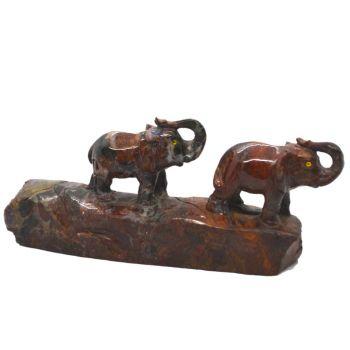 Elefanten Paar, Jaspis Edelsteintier