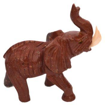 Elefant Edelsteintier mit Symbolkraft, Glücksbringer, Sammelobjekt TiergravurSpeckstein