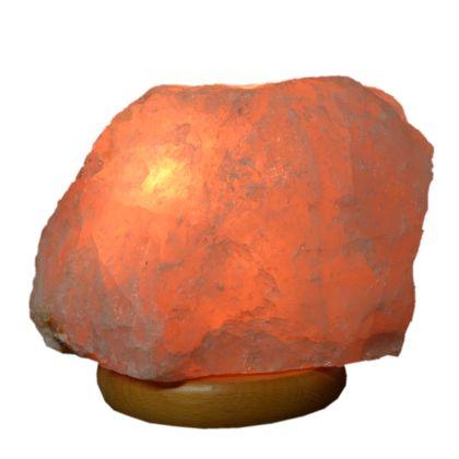 Echte Rosenquarz Stein Lampe groß kaufen | Edelsteinlampe ca. 29 cm hoch | Hellrosa Kristall Edelstein-Leuchte für Ihre Wohn- und Schlafräume mit hellem Holz Sockel N798