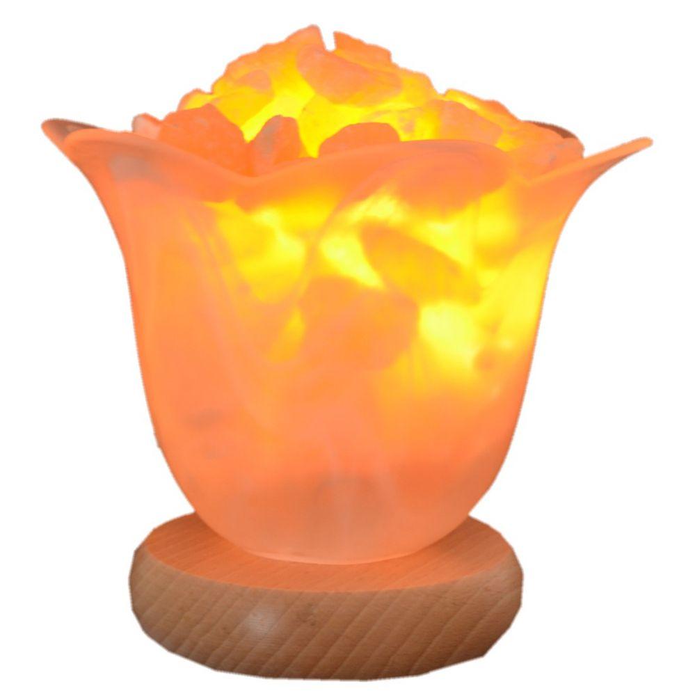 Edelsteinlampe  Blütenzauber Orangencalcit Leuchtschale