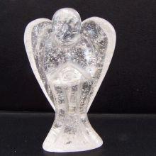 Bergkristall Engel Figur | Edelsteinengel ca.5 cm | Ihr persönlicher Schutzengel oder Glücksbringer | Handarbeit