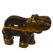 Edelsteintier Elefant  Tigerauge ca.5cm