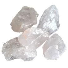 Bergkristall Edelstein Stein Brocken | Faustbrocken Rohstein Quarzstein | Edelsteine aus Bergkristall sind sehr beliebt als Heilstein zur Heilung und zur Dekoration | 100 %  unbehandelter Naturstein Energiestein