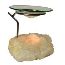Bergkristall Edelstein Dutflampe