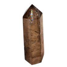 Rauchquarz Spitze poliert, Standspitze Quarz, kleine Edelstein Spitze Höhe ca. 4 cm, Therapie Stein, Dekostein, Stein Point, Obelisk
