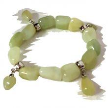 Jade Freeform Armband mit Charms Anhänger