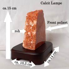 Edelsteinlampe Orchideencalcit   Lampe mit Onyx Sockel   Stimmungslicht roter Calcit   wundervolle Orientierungshilfe in der Nacht