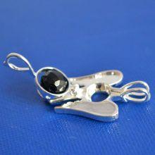 Perlenkäfig Schutzengel, Wechselschmuck-Anhänger, mit Gratis Perle Turmalin