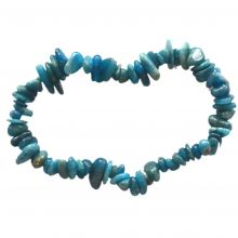 Echtes Apatit Edelstein Armband für Damen und Herren kaufen| Blaue Apatit Steine Stretch-Armband als täglicher Begleiter | Ihr aktives Schutz- und Heilstein Splitterarmband