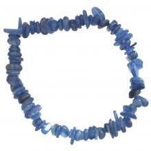 Kyanit Edelstein-Splitter-Armband für Damen und Herren | Echtes Disthen Edelsteinschmuck-Armband auf elastischen Zugband und Heilstein Kyanit-Stein