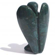 Jaspis Edelstein Engel Figur | Irai-Jaspis grün bunt | Höhe ca. 4 cm | Handarbeit