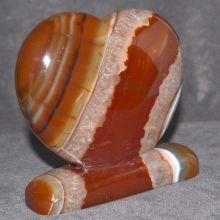 Carneol Edelstein Herz | Standobjekt N 599 | hübsches romantisches Edelsteinherz | zur Dekoration zum verschenken zum sammeln | dekorative Herz Figur zum aufstellen|