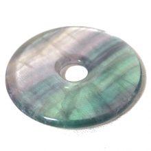 Regenbogen Fluorit Donut-Anhänger, ca. 35mm