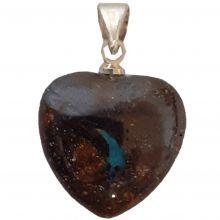 Opal Herz Anhänger, Boulderopal