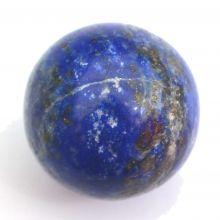 Lapislazuli Edelstein-Kugel klein ca. 2,5 cm | blaue Steinkugel aus Lapis | Ideal als Handschmeichler, Glückstein und Heilstein