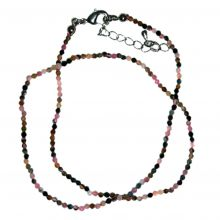 Turmalin Edelsteinkette, Collier multicolor