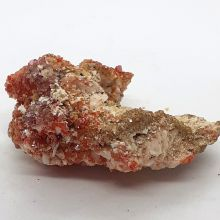 Vanadinit Kristall auf Baryt Edelstein Mineral Nr.114