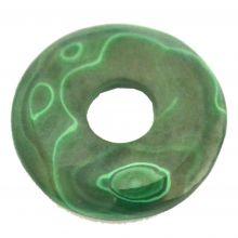 Malachit Donut Anhänger, ca. 30 mm