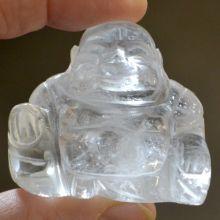 Buddha Figur Bergkristall, ca. 4 cm