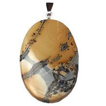 Maligano Jaspis Anhänger mit Silber-Öse | Edelstein-Schmuckanhänger mit einem wunderbaren Farbenspiel | Maligano Jaspis Stein für Ketten und Lederbänder