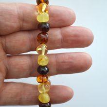 Bernstein Armband auf Strechband, echter baltischer Amber, 4 farbig, Kugelarmband, Schmuck-Armband,