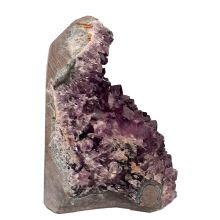 Amethyst Geoden-Stück, Amethyst-Kristall-Drusenstück mit kleinen dunklen Spitzen aus Uruguay preiswert kaufen Nr.392