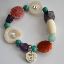 Multicolor Edelstein Armband