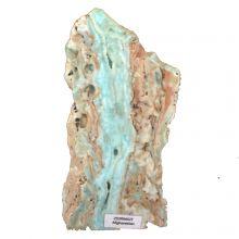 Zeiringit blauer Aragonit | Anschliff Stufe türkis-blau aus Afghanistan | Standobjekt ca. 14,5 cm | Unikat N27