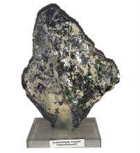 Glaukophan-Fuchsit selten | Edelstein-Mineral | Naturstein auf Sockel | Herkunft Pollone-Piemont | Sammlerstück N600