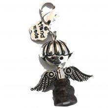 Charms-Anhänger Jaspis-Engel | Bettelarmband-Ketten Anhänger mit Karabiner |  zum Anhängen an Armbändern, Halsketten oder an Taschen