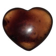 Herz Blauer Bernstein | blue amber Herz | Handschmeichler aus Sumatra/Indonesien. Sehr schöner Naturstein voll poliert zur Meditation als Geschenk Heil- und Massagestein | N9
