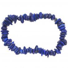Echtes Lapislazuli Armband | Blaue Edelstein Armkette Stretch-Armband | Lapislazuli Schmuck für Herren und Damen kaufen | Heilstein Wirkung
