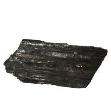 Schwarzer Turmalin-Schörl Edelstein | Natur-Stein unbehandelter Turmalin Brocken| schwarzer Rohstein Dekostein | Strahlenschutz und Heilstein N400