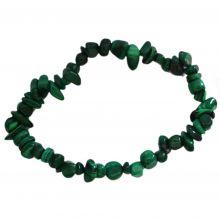 Malachit Splitterarmband –Stretch-Armband kaufen | Edelstein Armband auf elastischen Band | Heilstein Energieschmuck für Damen und Herren aus echten Malachit Steinen