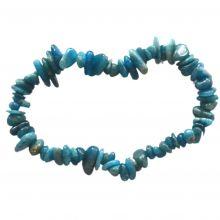 Blauer Apatit Edelstein Armband für Damen und Herren kaufen| Echtes Edelstein Armband aus Apatit Steinen | Heilstein-Schmuck Splitterarmband | Edelsteinarmband mit elastischen Gummi-Band