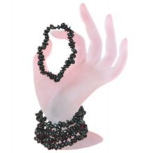 Turmalin schwarz Schörl Stretch-Armband kaufen | Echtes Edelstein schwarzer Schörl Armband für Damen und Herren | Schutz- und Heilstein Armband schwarze Turmalin Trommelsteine