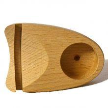 Achat-Scheiben beleuchtet | Holzständer für eine Kerze zur Beleuchtung von Achatscheiben | Sockel zum Aufstellen für Achat Stein-Scheiben | Achat Kerzenständer Licht