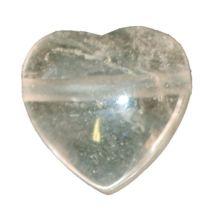 Bergkristall Herz Anhänger klein kaufen | Echter 20 mm weiss-transparenter Kristall Herz Kettenanhänger | Edelstein Herzanhänger gebohrt für Kette oder Lederband | Glücksbringer, Talisman, Geschenk