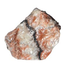 Calcit rot Edelstein Brocken   uriger Natur belassener Rohstein   kann liegend oder stehend platziert werden  Wintergarten Deko   N284