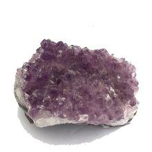 Amethyst Edelstein Naturstein| Drusenstück aus Brasilien | wundervolles, handliches Amethyststück | zur Dekoration, für Sammler | N350