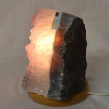 Amethyst Stein-Lampe polierte, ca. 4 kg | Edelsteinlampe aus Uruguay | Amethyst-Kristall Leuchte komplett mit Elektrik kaufen | Heilstein-Lampe lila und Deko-Lampe Amethyst