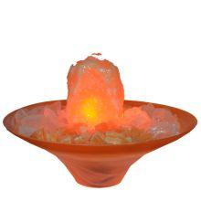 Orangencalcit Zimmerbrunnen    Edelstein-Brunnen Tamara Schale   die Klima-Oase für Ihr zu Hause   befeuchten und reinigen ihre Raumluft