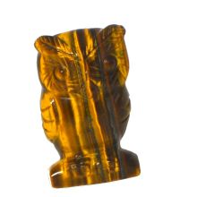 Tigerauge Stein Eule, Echte Edelstein Tigerauge Eule 5 cm, Edelstein Tier Eule kaufen