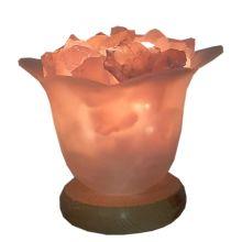 Edelsteinlampe  Blütenzauber Rosenquarz Leuchtschale