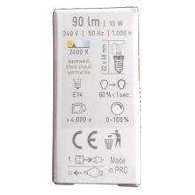 Leuchtmittel-Backofenlampe | passend zu unseren Lampen und Beleuchtungen | Fassung E14 | 15W/90lm, warmweiß