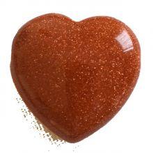 Goldfluss Herz Anhänger, ca. 3cm