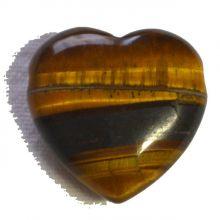 Tigerauge Herz Anhänger ca.3 cm